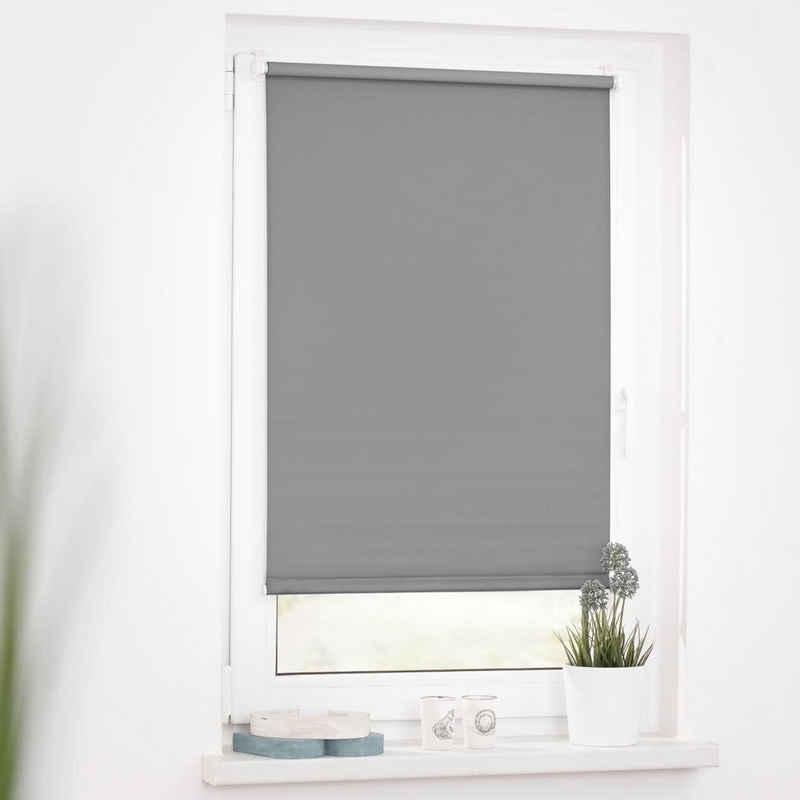 Seitenzugrollo »Uni Rollo«, LICHTBLICK ORIGINAL, verdunkelnd, ohne Bohren, verspannt, mit Klemmträger und Farbbeschichtung - für Fenster und Türen, Klemmfix