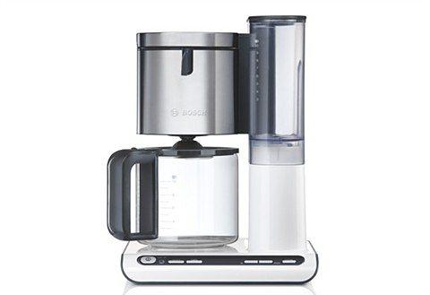 Bosch Kaffeemaschine »Styline TKA8631/TKA8633«, mit Glaskanne in Weiß-Silber