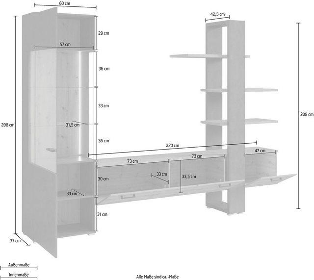 Wohnwände - TRENDMANUFAKTUR Wohnwand, (Set, 2 St)  - Onlineshop OTTO