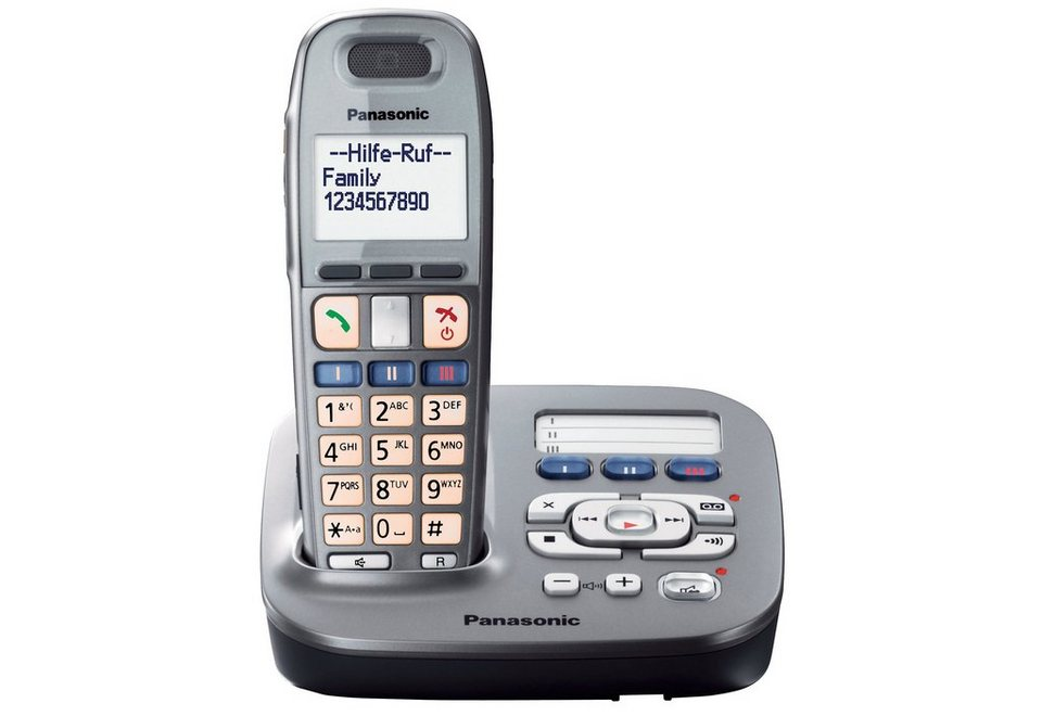 panasonic kx tg6591gm schnurloses dect telefon mit ab online kaufen otto. Black Bedroom Furniture Sets. Home Design Ideas