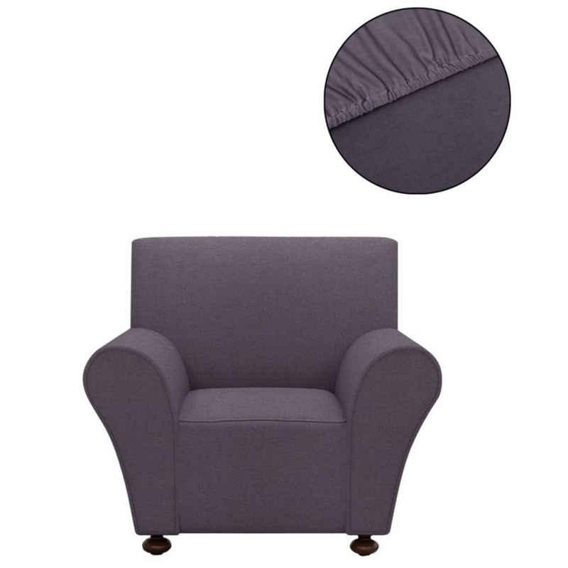 Hussen-Set »vidaXL Sofahusse Stretchhusse Sofabezug Anthrazit Polyester Jersey«, vidaXL