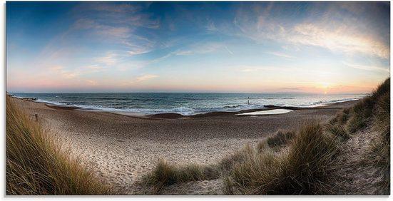 Artland Glasbild »Strand und Sanddünen am Hengistbury Head«, Küste (1 Stück)