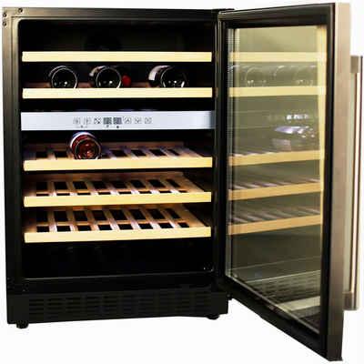 Hanseatic Weinkühlschrank HWC46GCIA, für 46 Standardflaschen á 0,75l