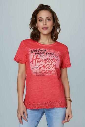 SOCCX T-Shirt mit Spitzenkante
