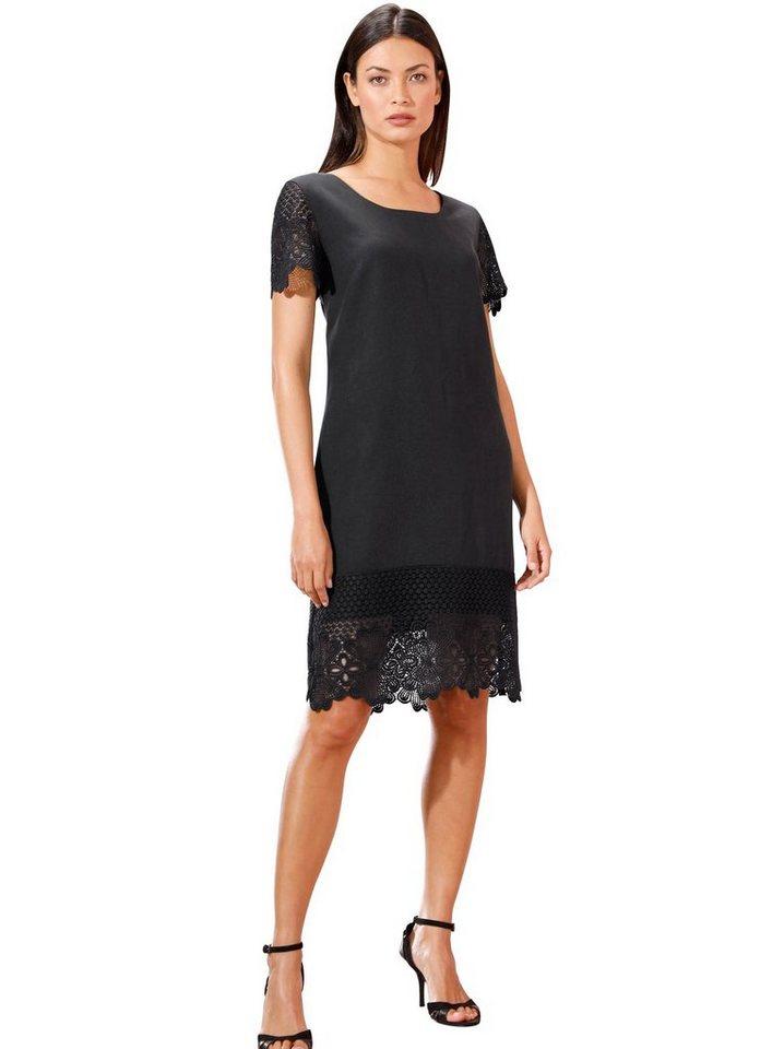 Festtagsmode - creation L Spitzenkleid »Lyocell Kleid« › schwarz  - Onlineshop OTTO