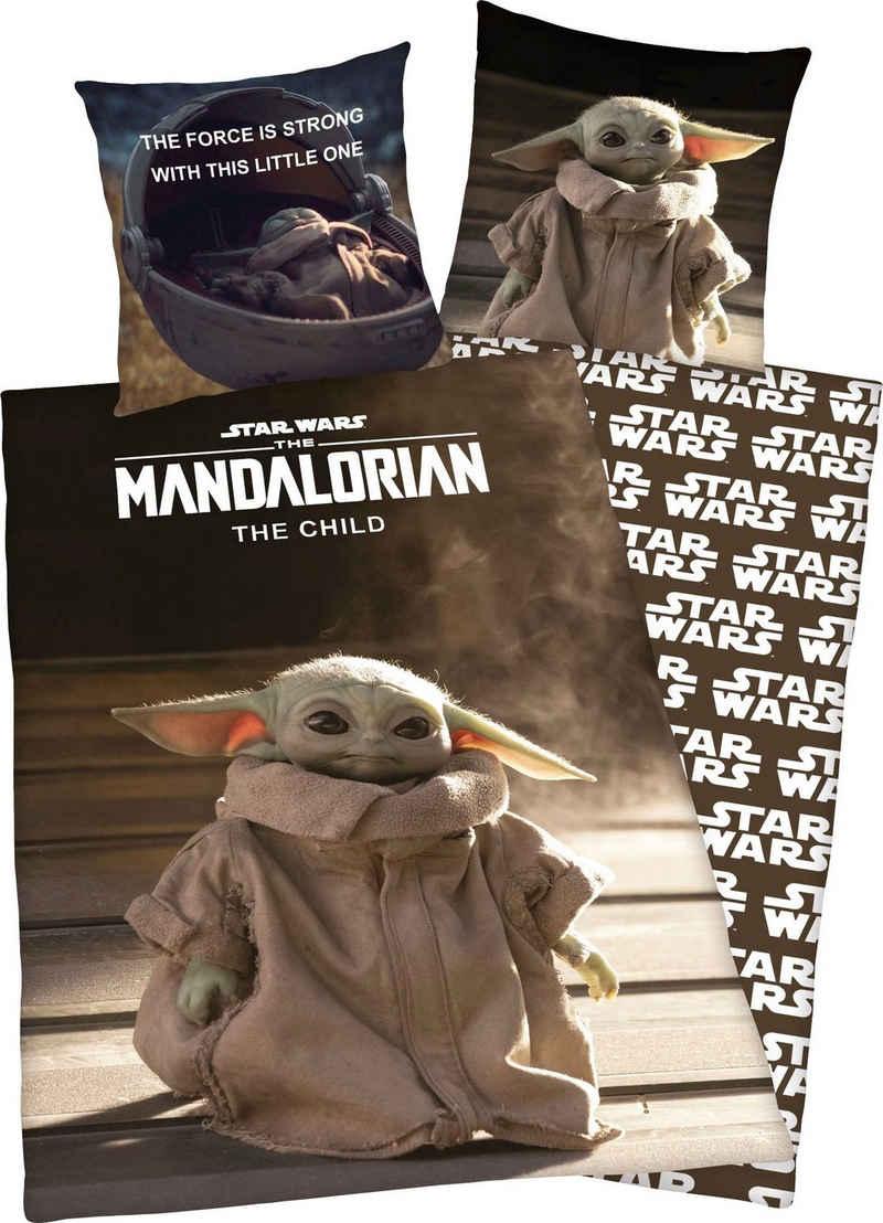 """Wendebettwäsche »Star Wars Mandalorian«, Star Wars, mit tollem """"Star Wars Mandalorian"""" Motiv"""