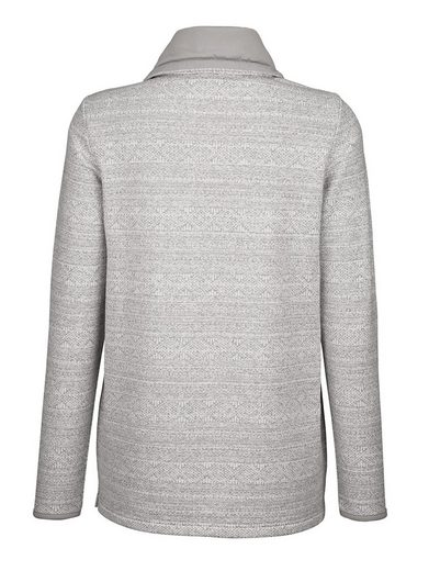 Dress In Sweatshirt mit weitem Kragen