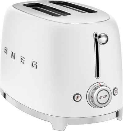 Smeg Toaster TSF01WHMEU, 2 kurze Schlitze, 950 W