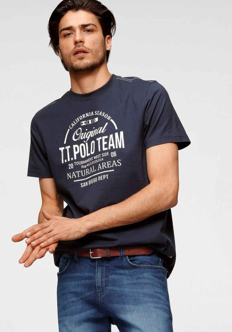 TOM TAILOR Polo Team T-Shirt mit großem Logofrontprint