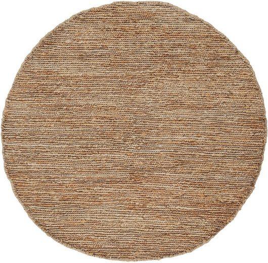 Teppich »Nala«, carpetfine, rund, Höhe 9 mm, Wendeteppich, Wohnzimmer