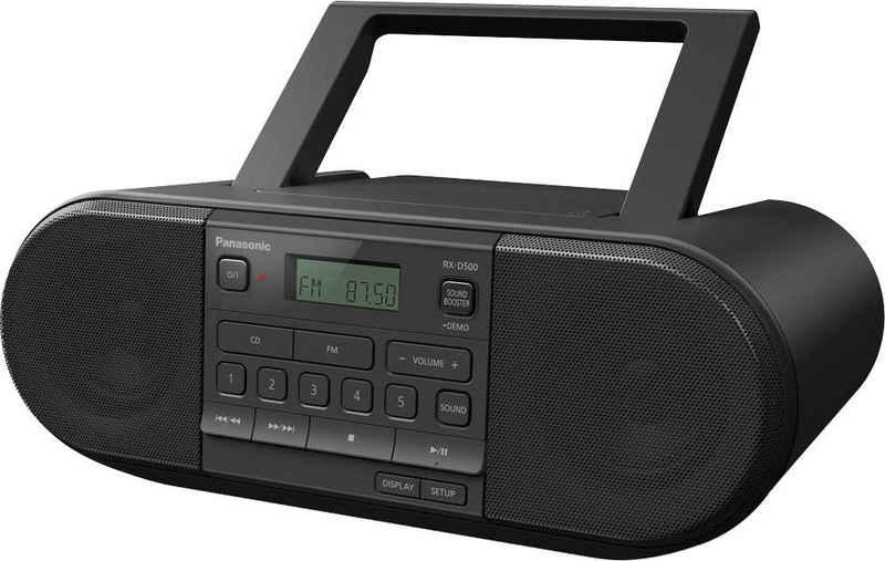 Panasonic »RX-D500EG-K CD-« Boombox (FM-Tuner, UKW mit RDS, 20 W)