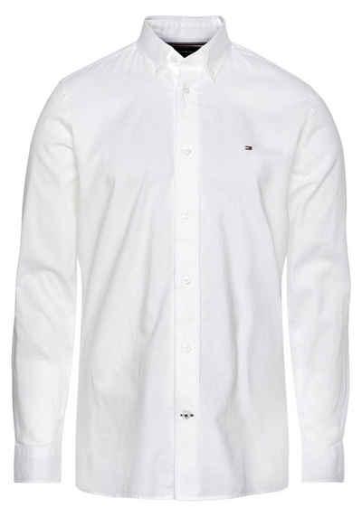 Tommy Hilfiger Langarmhemd »CARBON FINISH TWILL SHIRT«
