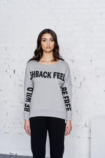 Cotton Candy Sweatshirt mit auffälligem Design »Bente«