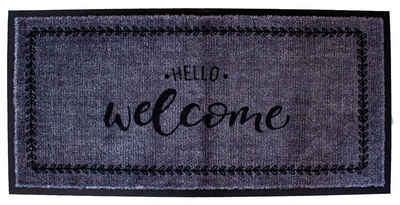 Fußmatte »Fussmatte- Hello Welcome 80x40cm«, Mr. Ghorbani, Rechteckig, Höhe 8 mm