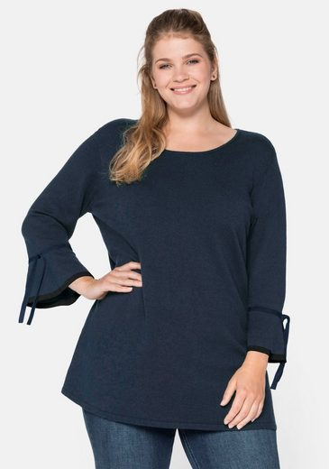 Sheego 3/4 Arm-Pullover in A-Linie