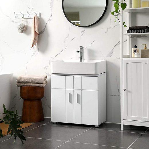 VASAGLE Waschbeckenunterschrank »BBK02WT ...