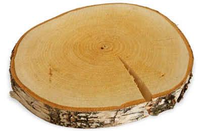 matches21 HOME & HOBBY Bastelnaturmaterial »Echtholz Birke Holz Scheibe Holzscheibe Ø ca. 10-15 cm«, (1-tlg), Jedes Stück ist ein Unikat und ein echtes Naturprodukt.