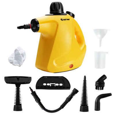 COSTWAY Handdampfreiniger Dampfreiniger, 1050 Watt, mit 9 Zubehör, 3 bar, 250ml, 4min Aufheizzeit, für Teppiche, Vorhänge, Autositze und Küche