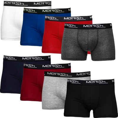 MERISH Boxershorts »Herren 8 Stück S-7XL Männer Unterhosen Baumwolle Premium Qualität Sehr bequeme Passform« (8 Stück)
