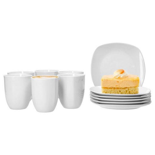 van Well Frühstücks-Set »Frühstücksset 12tlg. Lilli für 6 Personen mit 6 Tellern und 6 Bechern«