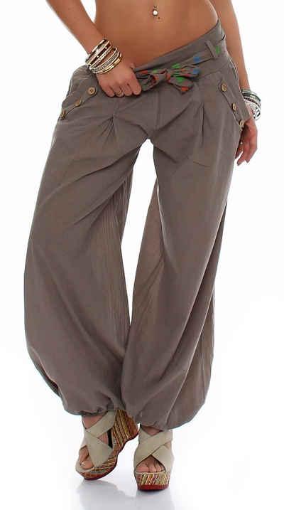 malito more than fashion Haremshose »malito Damen Pumphose in Unifarben, leichte Stoff« (1-tlg) mit elastischem Bund