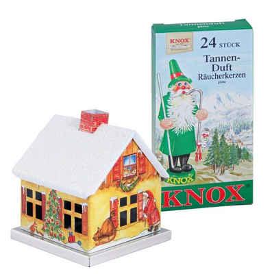 KNOX Räucherhaus »202022, Weihnachtsmann + Räucherkerzen Tanne«, aus Metall