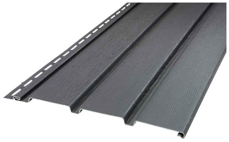 Baukulit VOX Verkleidungspaneel »SOFFIT graphit«, BxL: 270x30 cm, (Set, 10-tlg) anthrazit