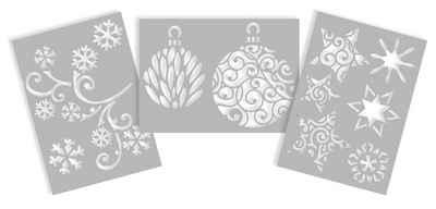VBS Malschablone »Schablonen Weihnachten«, 3er-Set