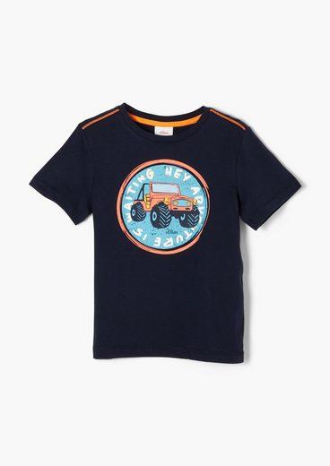 s.Oliver Kurzarmshirt »Softes Jerseyshirt mit Frontprint« (1-tlg)
