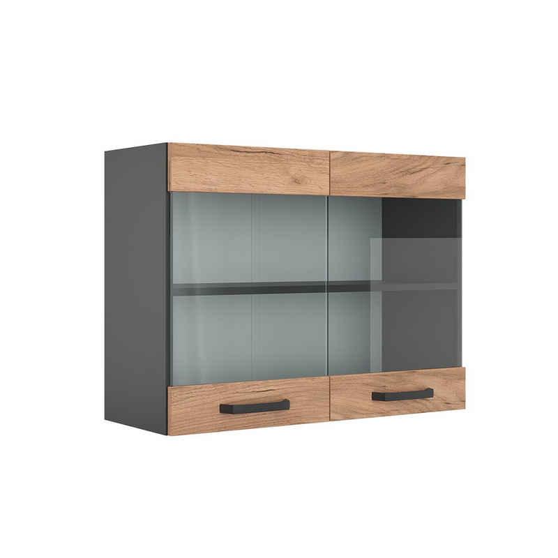 Vicco Glashängeschrank »Küchenschrank Hängeschrank Hängeglasschrank 80 cm R-Line Anthrazit«
