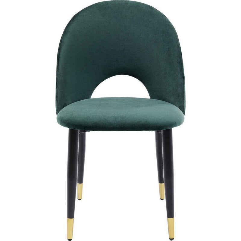 KARE Stuhl »Stuhl Iris Velvet Grün«