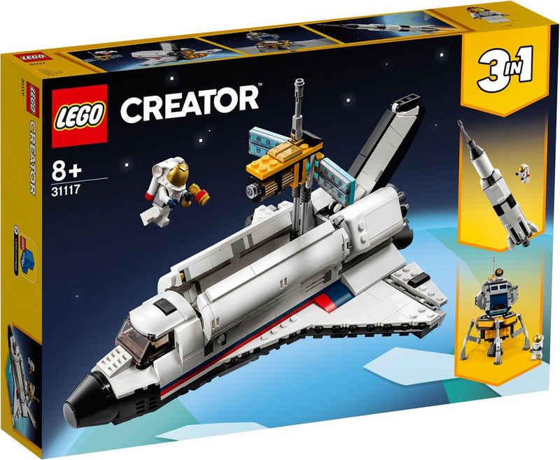 LEGO® Konstruktionsspielsteine »Spaceshuttle-Abenteuer (31117), LEGO® Creator 3in1«, (486 St)