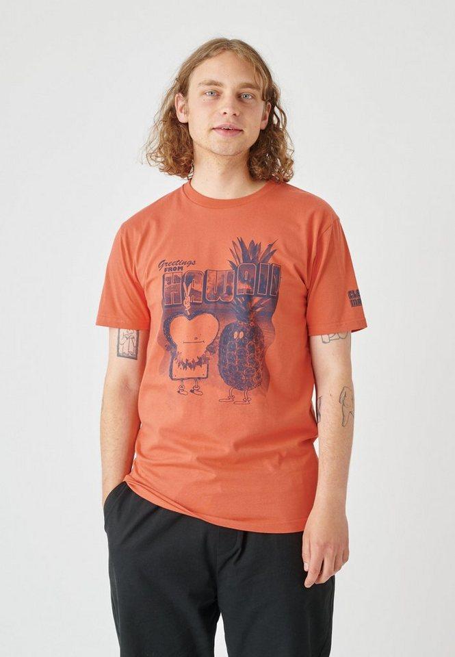 cleptomanicx -  T-Shirt »Toast Hawaii« mit trendigem Frontprint