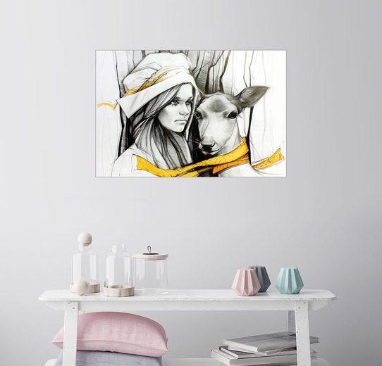 Posterlounge Wandbild, Geschwister