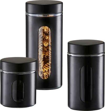 Zeller Present Vorratsglas »Style«, Glas, Metall, (Set, 3-tlg)