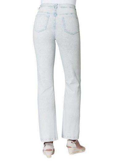 Ambria Jeans mit farblich abgestimmter Stickerei
