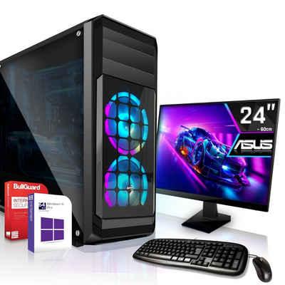 SYSTEMTREFF »Workstation Edition 54452« Business-PC-Komplettsystem (AMD A8 9600, Radeon HD R7, 8 GB RAM, 500 GB HDD, 120 GB SSD)