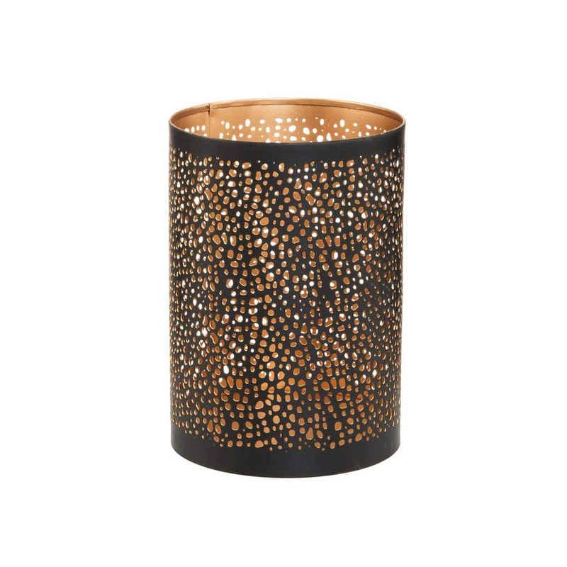 BUTLERS Teelichthalter »LUMINOUS Windlicht Punktdesign Höhe 15 cm«