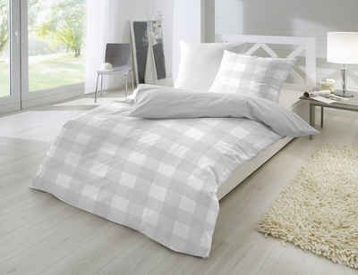 Bettwäsche »Bettwäsche Baumwolle ihn 5 stylischen Farben Karo Design«, Giancasa, mit Reißverschluss