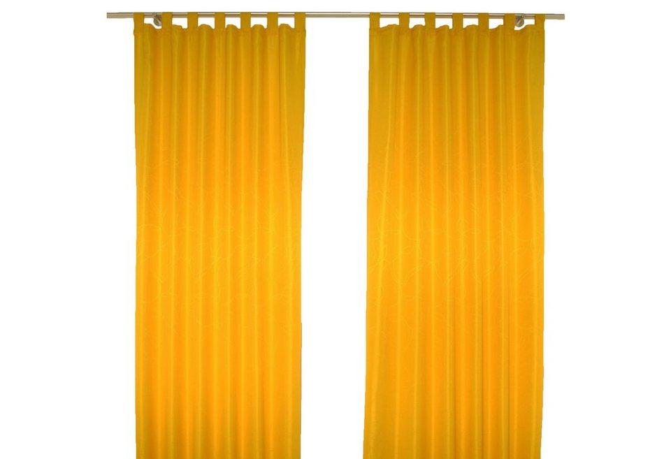 Vorhang, Wirth, »Janine«, mit Schlaufen (1 Stück) in gelb