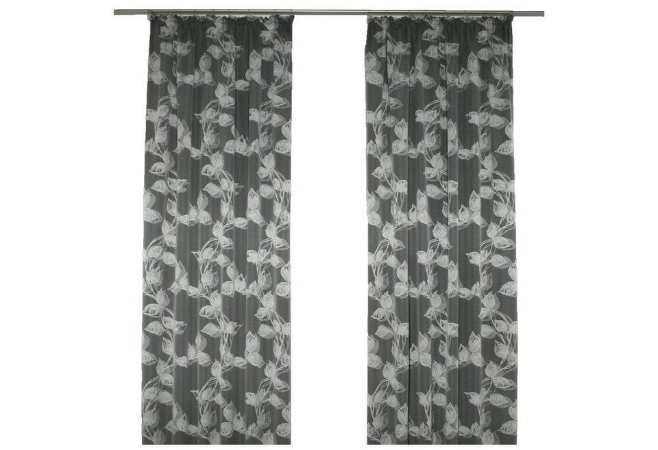 Vorhang, Wirth, »Angie«, mit Kräuselband in anthrazit