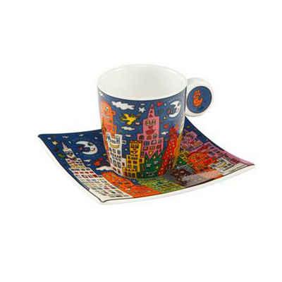 Goebel Espressotasse »City Night - Pop Art James Rizzi 100 ml«, Fine China-Porzellan