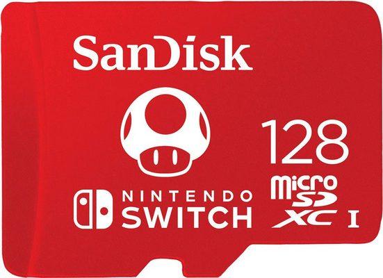 Sandisk »microSDXC Extreme 128GB für Nintendo Switch« Speicherkarte (128 GB, UHS Class 1, 100 MB/s Lesegeschwindigkeit, U3/UHS-I/Cl.10/R100/W90)