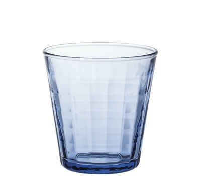 Duralex Tumbler-Glas »Prisme Marine«, Glas, Trinkglas Wasserglas Saftglas 170ml Glas blau 4 Stück