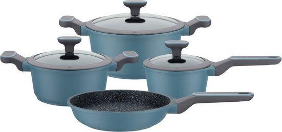 GSW Topf-Set »Blue Granit«, Aluminiumguss, (Set, 7-tlg), Induktion