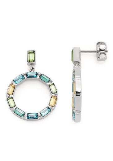 LEONARDO Paar Ohrstecker »Grafica, 021372«, mit Kristallglas