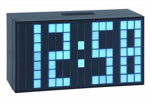 Time Block Wecker in schwarz