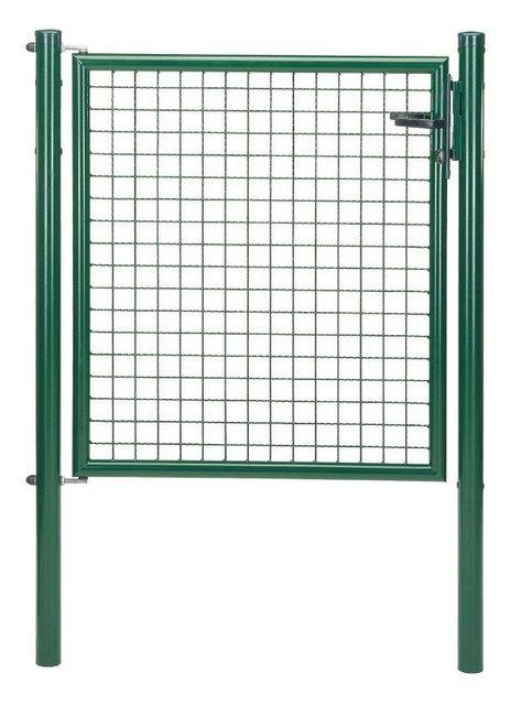 Zaun-Einzeltür Maschendraht grün
