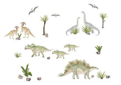 """anna wand Wandsticker »""""Dinosaurier"""" mehrfarbig - Wandtattoo Dinos«, selbstklebend"""