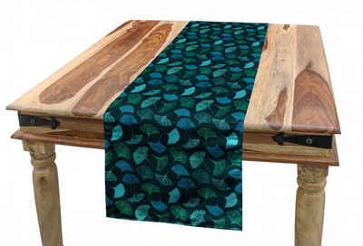 Abakuhaus Tischläufer »Esszimmer Küche Rechteckiger Dekorativer Tischläufer«, Tropisch Exotische Ginkgo-Blätter Motif